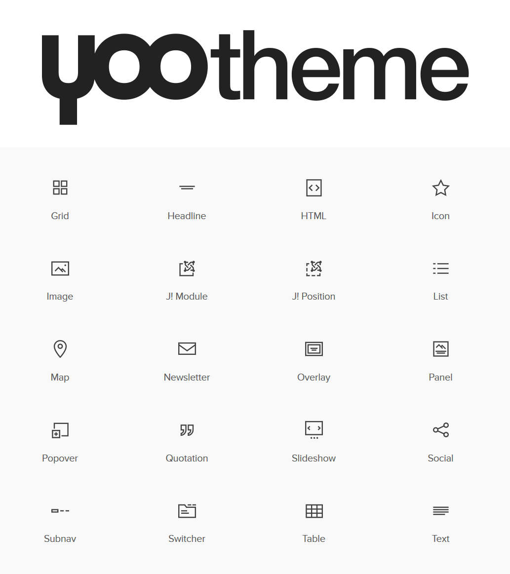 Wordpress YOOtheme Builder Elements